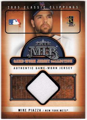 Photo of 2005 Classic Clippings MLB Game Worn Jersey Collection #20 Mike Piazza