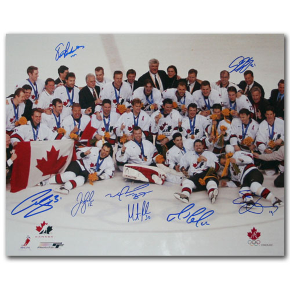 2002 Olympics Team Canada 16X20 Multi-Signed Photo - 8 Huge Autographs