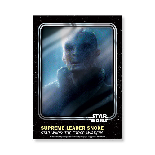 Supreme Leader Snoke 2016 Star Wars Card Trader Base Poster - # to 99