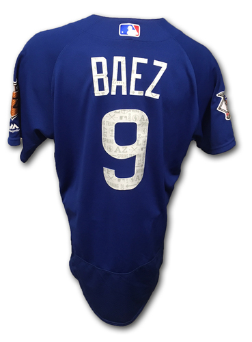 07dd7622f Javier Baez Game-Used Spring Training Jersey -- Cubs at Astros -- 3