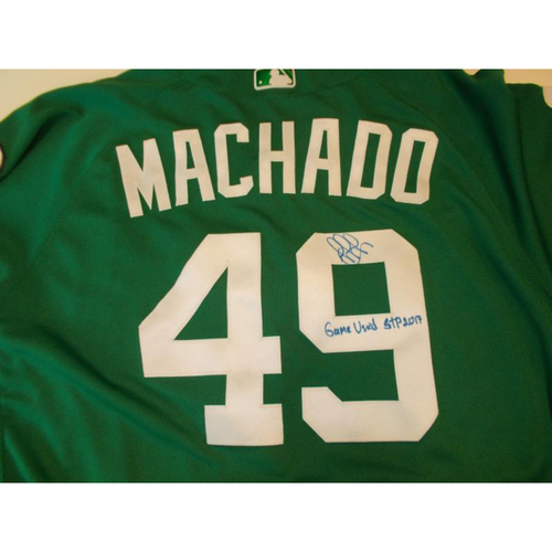 Autographed Game-Used St. Patrick's Day Jersey: Dixon Machado
