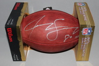 NFL - GIANTS JEREMY SHOCKEY SIGNED AUTHENTIC FOOTBALL