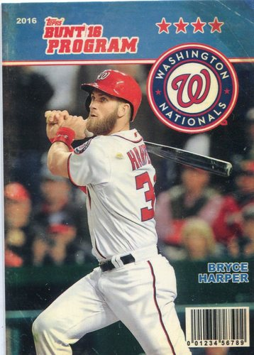 Photo of 2016 Topps Bunt Programs #P27 Bryce Harper