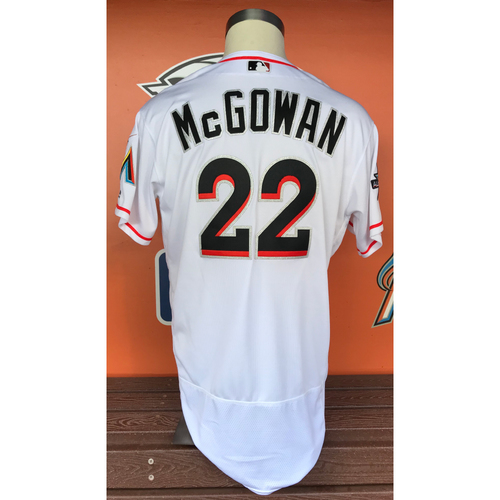 Photo of Dustin McGowan 2017 Home Opener Game-Used Jersey - Size 48