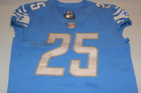 CRUCIAL CATCH - LIONS THEO RIDDICK GAME WORN LIONS JERSEY (OCTOBER 8TH, 2017) SIZE 40