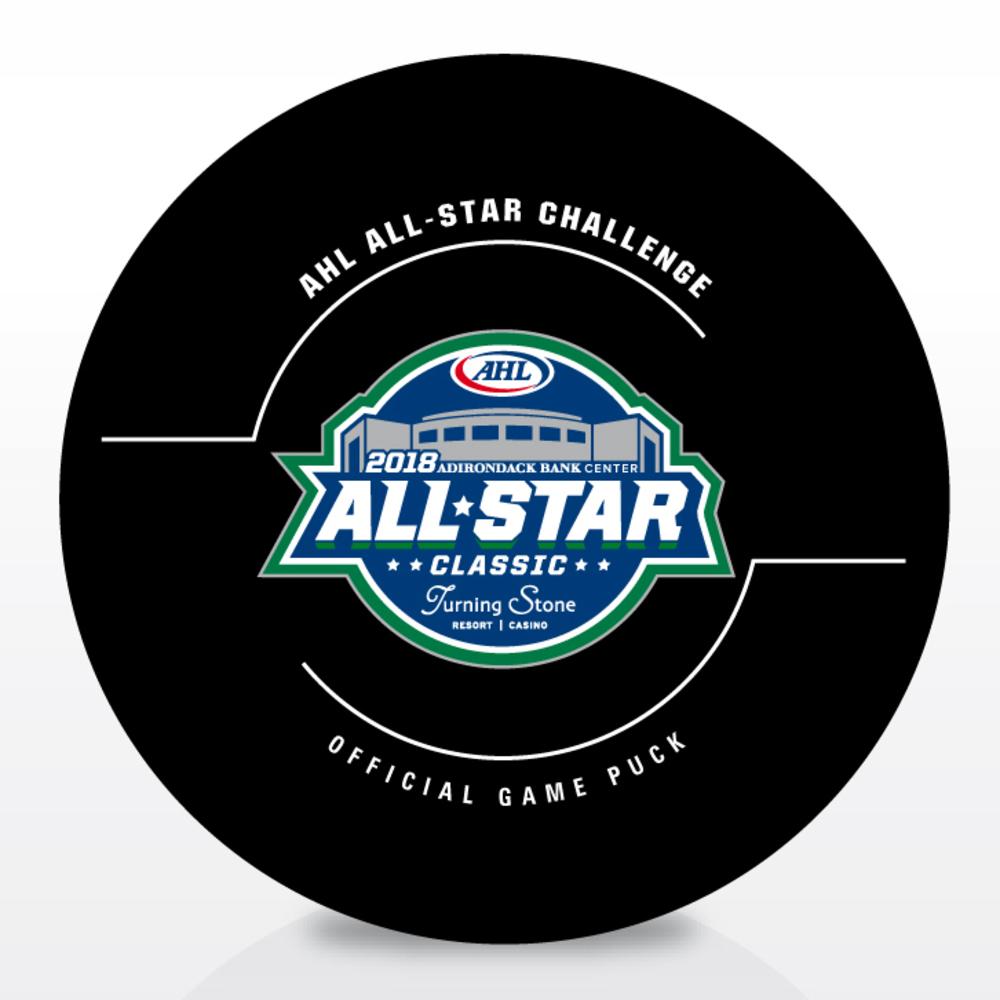 2018 AHL All-Star Classic Goal Puck- #40 Matt Taormina- Game #1, Goal 1, North