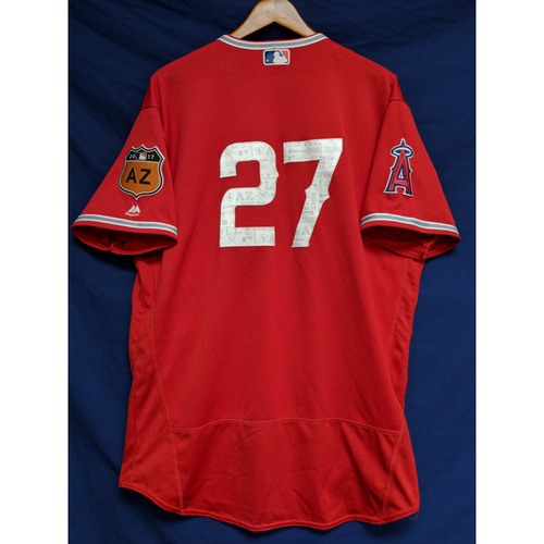 Photo of Mike Trout 2017 Game-Used Spring Training Jersey