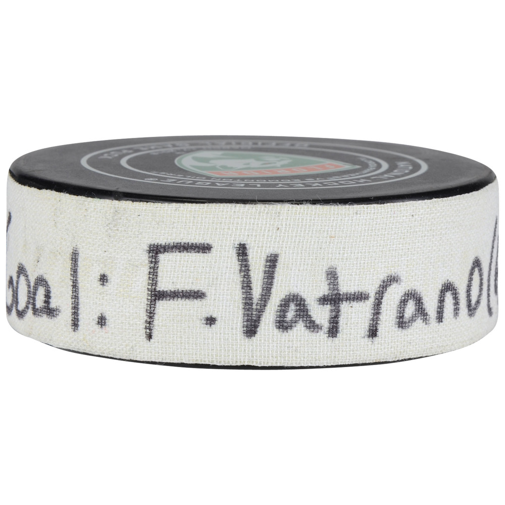 Frank Vatrano Florida Panthers Game-Used Goal Puck from March 17, 2018 vs. Edmonton Oilers