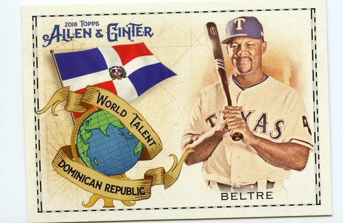 Photo of 2018 Topps Allen and Ginter World Talent #WT12 Yoenis Cespedes