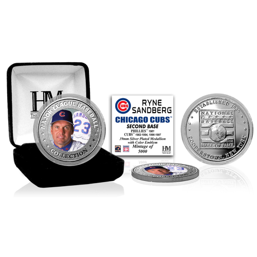 Photo of Ryne Sandberg Baseball Hall of Fame Silver Color Coin