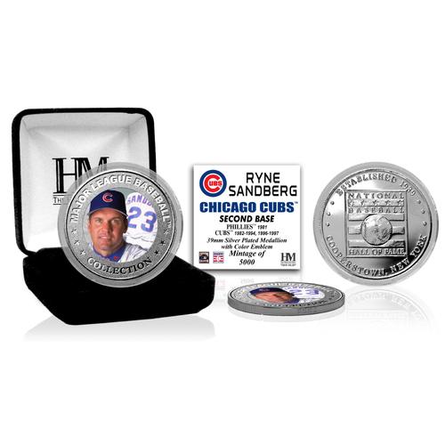 Photo of Ryne Sandberg Baseball Hall of Fame Silver Color Coin