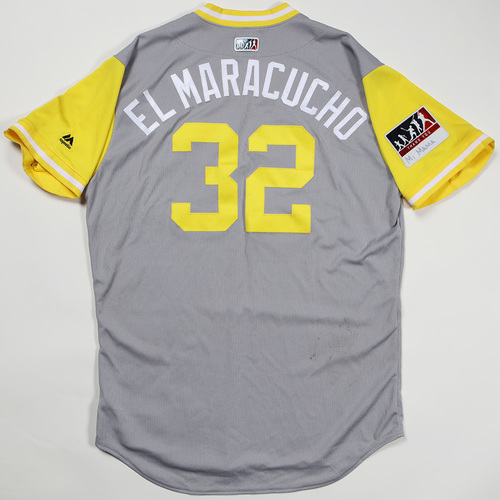"Photo of Elias ""El Maracucho"" Diaz Pittsburgh Pirates Game-Used Jersey 2018 Players' Weekend Jersey"