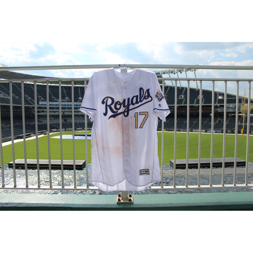 Photo of Game-Used Jersey: Hunter Dozier (Size 48 - MIN @ KC - 9/14/18)