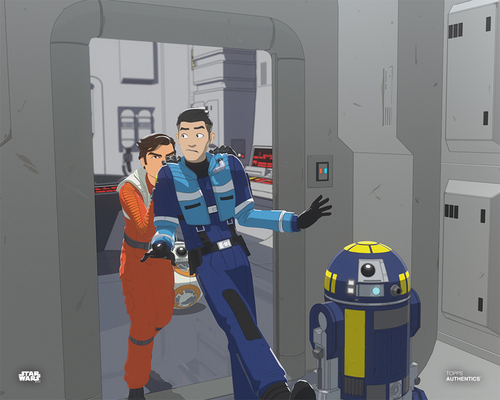 Poe Dameron and Kazuda Xiono