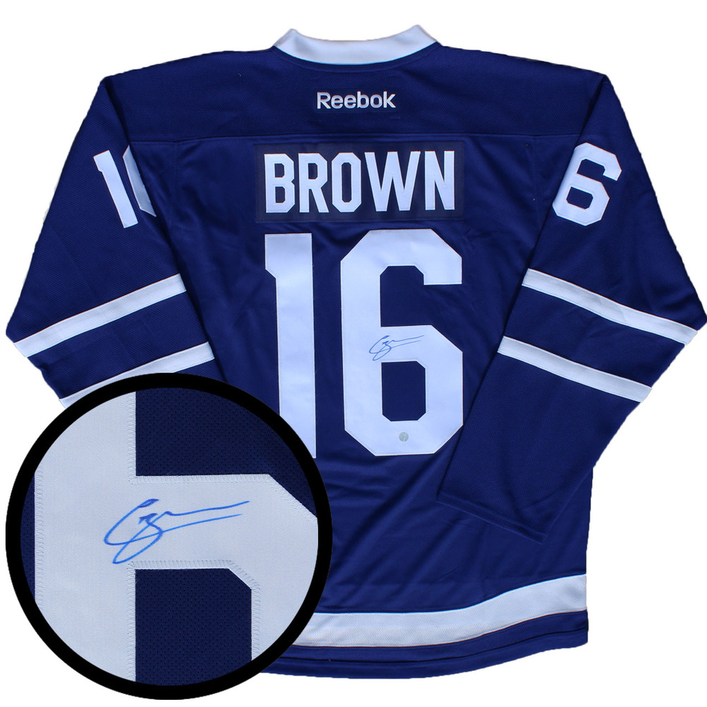 Connor Brown Signed Jersey Leafs Replica Blue 2016-2017 Reebok