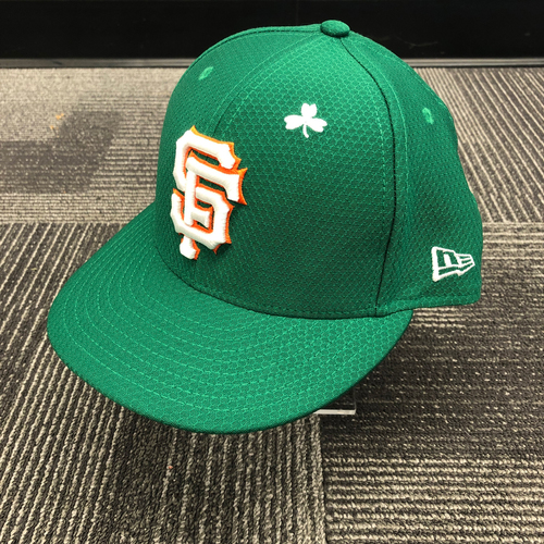 Photo of 2019 Game Used St. Patrick's Day Cap worn by #29 Jeff Samardzija on 3/17 vs. Kansas City Royals - Size 7 3/8
