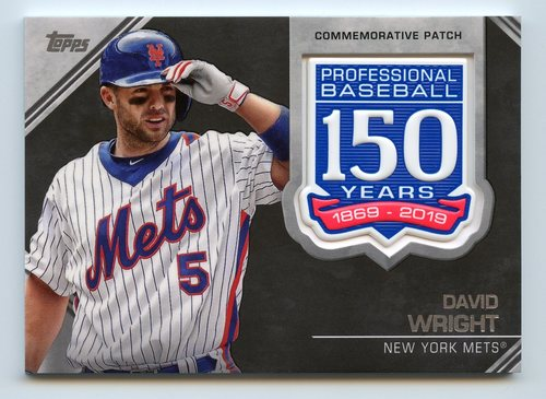Photo of 2019 Topps 150th Anniversary Manufactured Patches #AMPDW David Wright S2