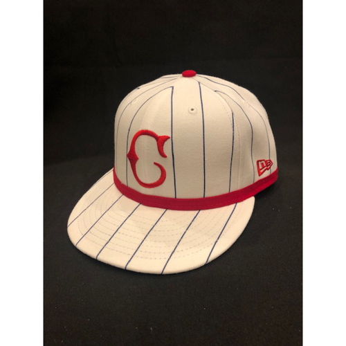 Photo of Nick Senzel -- Game-Used Cap -- 1919 Throwback Game -- Nationals vs. Reds on June 2, 2019 -- Size 7 1/4