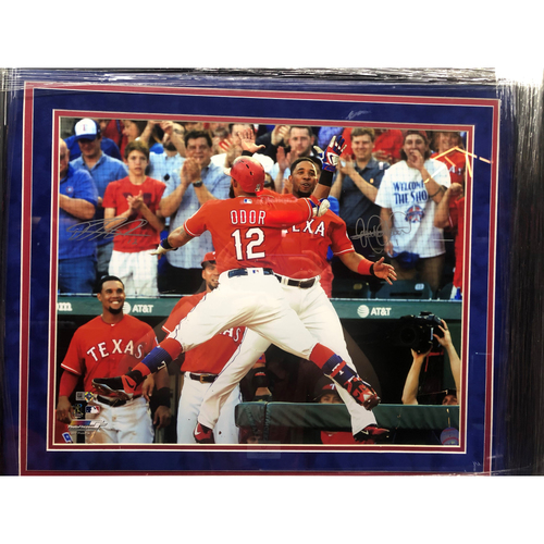 Photo of Rougned Odor/Elvis Andrus High Five - Autographed 16x20 Photo