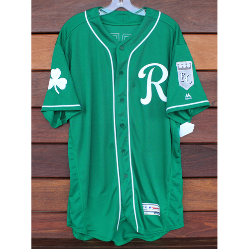 Photo of Team-Issued St. Patrick's Day Jersey: John Mayberry (Size - 48)