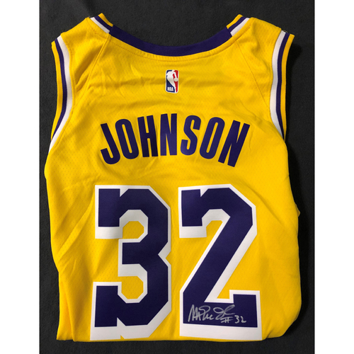 Photo of Magic Johnson Autographed Jersey