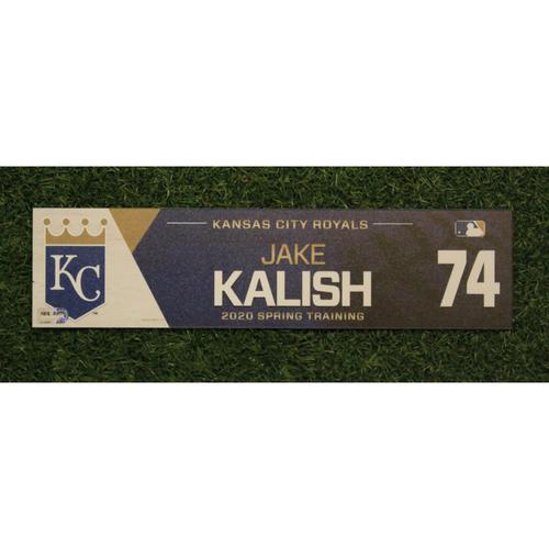 Game-Used Spring Training Locker Tag: Jake Kalish #74