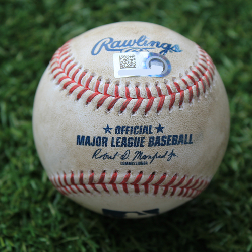 Photo of Game-Used Baseball: Adam Engel 213th Career Hit (CWS @ KC 8/1/20)