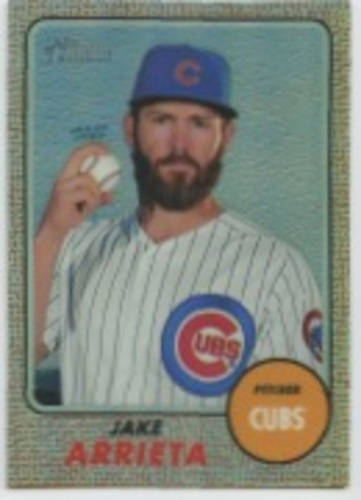 Photo of 2017 Topps Heritage Chrome Refractors #THC499 Jake Arrieta