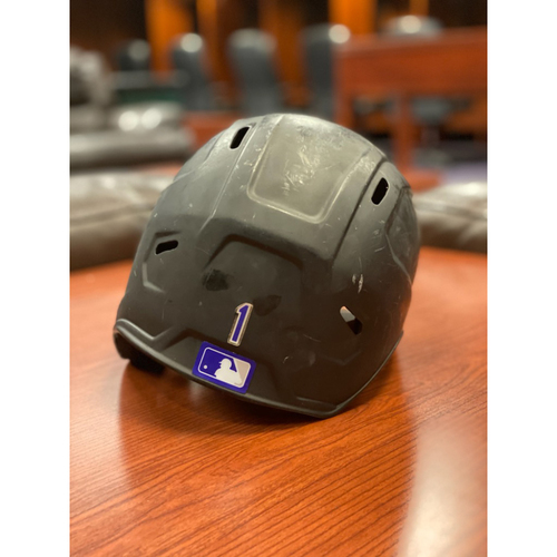 Photo of Colorado Rockies Team-Issued 2020 Helmet: Garrett Hampson