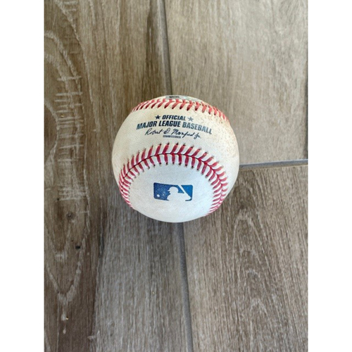 Photo of 8/30/20 Game-Used Baseball, Giants at D-backs: Hector Rondon vs. Mauricio Dubon (Single) and Joey Bart (Called Strike, Foul)