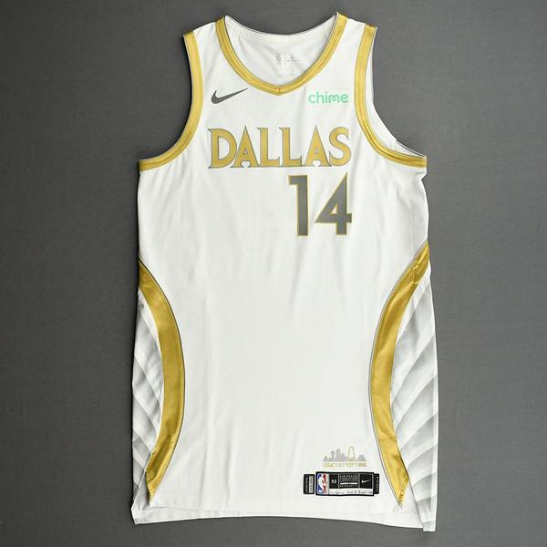 Image of Nate Hinton - Dallas Mavericks - Game-Worn - City Edition Jersey - Dressed, Did Not Play (DNP) - 2020-21 NBA Season