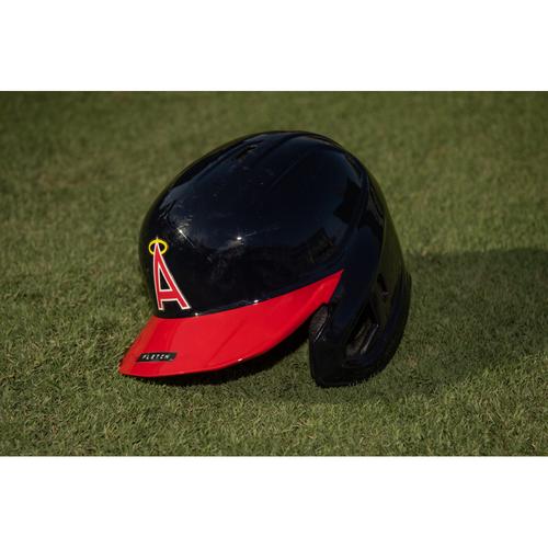 Photo of David Fletcher  Game Used 70's Throwback Helmet Used 7/30/21 & 7/31/21 vs. OAK