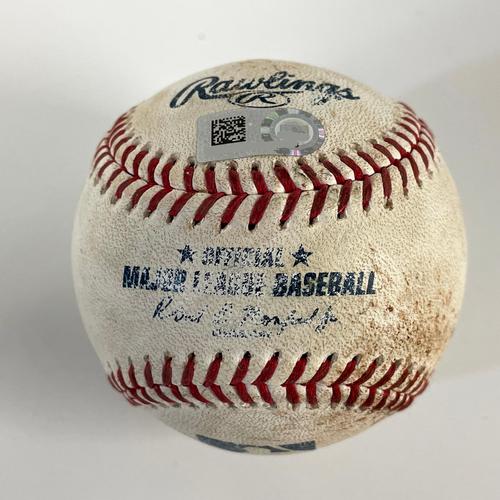 Photo of Game-Used Baseball - Gavin Lux Walk, Justin Turner 3 RBI Double - Dodgers @ D-backs 6/19/2021