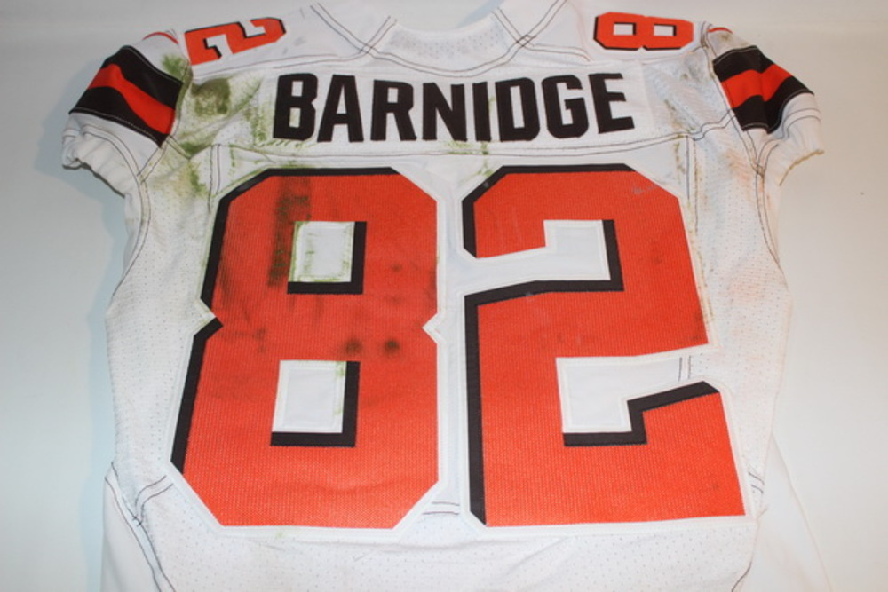 NFL Auction   STS - BROWNS GARY BARNIDGE GAME WORN BROWNS JERSEY ...