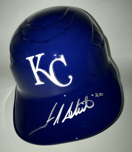 Photo of Frank White Autographed Full-Size Royals Batting Helmet