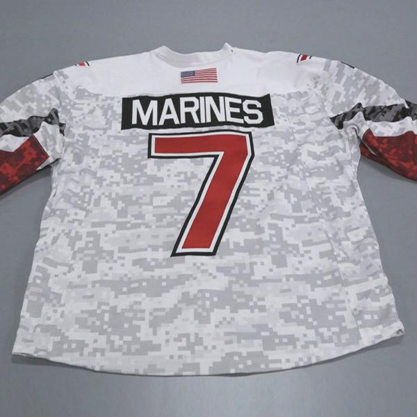 "Photo of Ohio State Ice Hockey Military Appreciation Jersey #7 ""MARINES"" / Size 56"