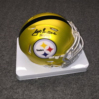 HOF - STEELERS JOE GREENE SIGNED STEELERS BLAZE MINI HELMET