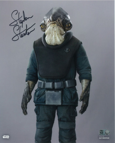Stephen Stanton as Admiral Raddus 8x10 Autographed in Black Ink Photo