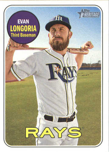 Photo of 2018 Topps Heritage #397 Evan Longoria