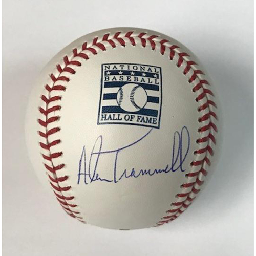 Photo of Alan Trammell Autographed HOF Baseball