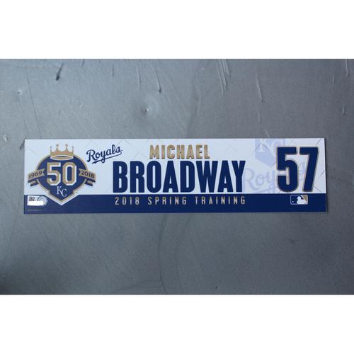 Photo of Spring Training Locker Nameplate: Michael Broadway