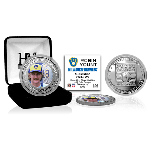 Photo of Robin Yount Baseball Hall of Fame Silver Color Coin