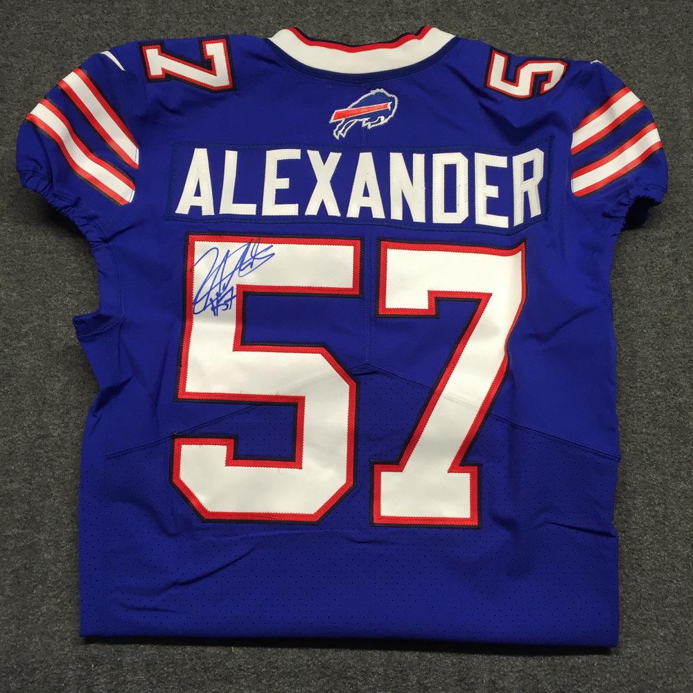 NFL Auction | Bills - Lorenzo Alexander signed authentic Bills ...