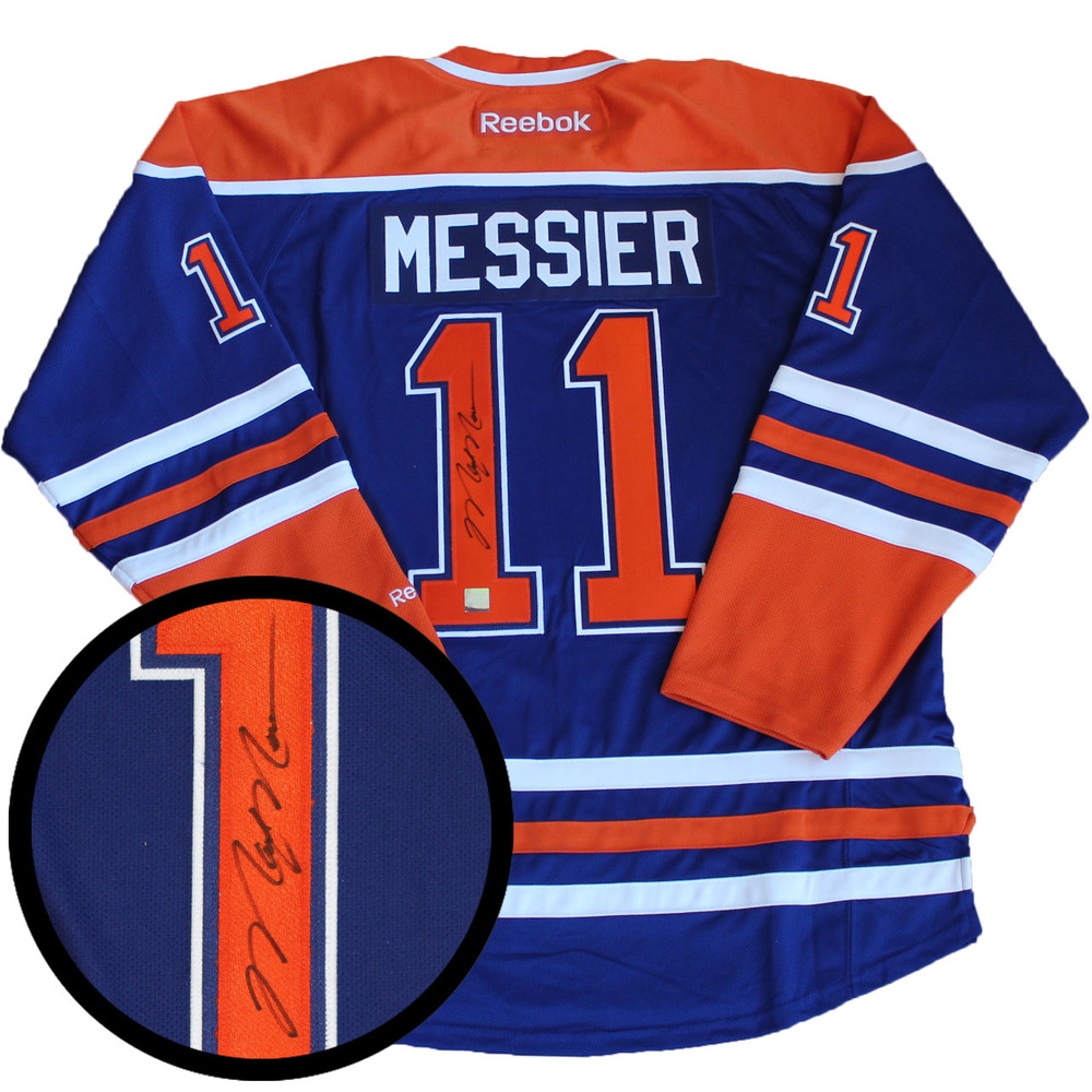 Mark Messier Signed Jersey Oilers Replica Blue 2016-2017 Reebok