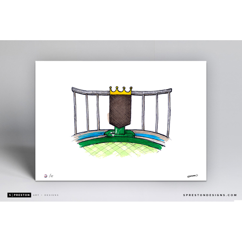 Photo of Kauffman Stadium Sketch - Limited Edition Print 2/42 by S. Preston