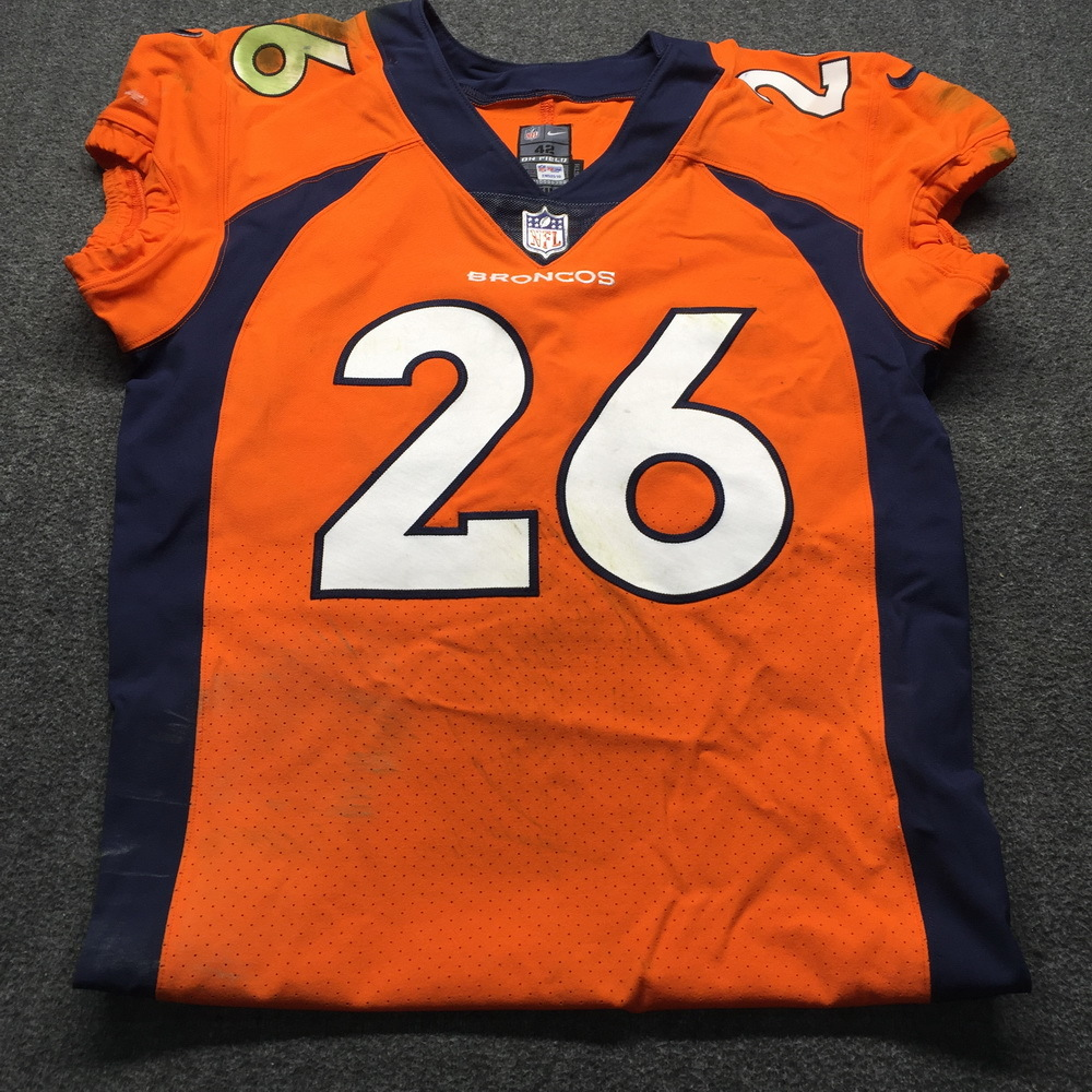 NFL Auction | Crucial Catch - Broncos Darian Stewart Game Used ...