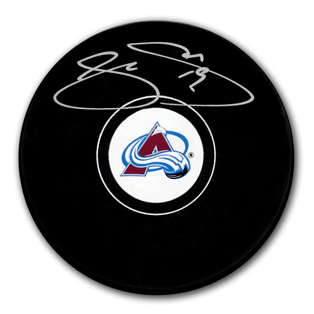 Joe Sakic Colorado Avalanche Autographed Puck