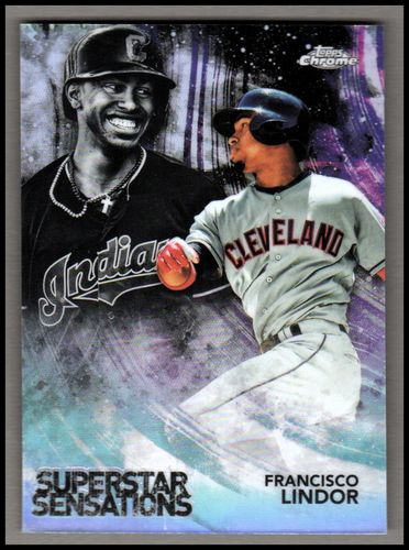 Photo of 2018 Topps Chrome Superstar Sensations Refractors #SS8 Francisco Lindor