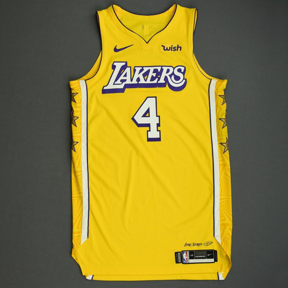 Alex Caruso - Los Angeles Lakers - Christmas Day' 19 - Game-Worn ...