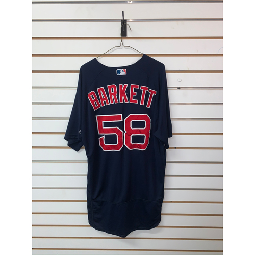 Photo of Andy Barkett Game-Used September 21, 2018 Road Alternate Jersey